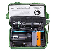 U'King Torce LED Kit per torce LED 2000 lm 3 Modo Cree XM-L T6 Messa a fuoco regolabile Zoom disponibile per