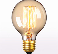 cheap -G80 AC 220-240V E27 60W Straight Wire Retro Creative Art Personality Decorative Edison Light Bulb 1PCS