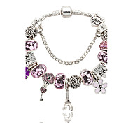 cheap -Crystal Tower Flower Charm Bracelet - Natural Fashion Gift Boxes & Bags Blue Pink Bracelet For Wedding Party Special Occasion