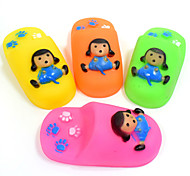 Dog Toy Pet Toys Chew Toy Teeth Cleaning Toy Cartoon Squeak / Squeaking Durable Shoes Silicone For Pets