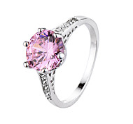 Ring Zircon Cubic Zirconia Steel Fashion Black Rose Pink Jewelry Daily 1pc