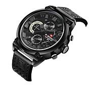 Недорогие -Муж. Спортивные часы Нарядные часы Часы со скелетом Модные часы Наручные часы Кварцевый Натуральная кожа Группа С подвесками Повседневная