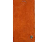 Недорогие -Кейс для Назначение OnePlus Один плюс 3 Бумажник для карт С функцией автовывода из режима сна Флип Чехол Сплошной цвет Твердый Кожа PU для