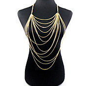 cheap -Body Chain - Gold Bohemian Fashion Body Jewelry For Christmas Gifts Party Special Occasion Anniversary Birthday Gift Casual Valentine