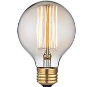 Недорогие -G95 Переменный ток 220-240 1шт ретро творческого искусства личности декоративный Edison лампочка e27 60w прямой провод