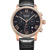Недорогие -MEGIR Муж. Спортивные часы Нарядные часы Часы со скелетом Модные часы Наручные часы Кварцевый Календарь Натуральная кожа Группа Кулоны На
