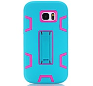 For Samsung Galaxy S7 Edge S6 Edge Shockproof with Stand Case Back Cover Case Armor Hard Silicone for Samsung Galaxy S7 S6 S5 S4 S3