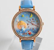 Женские Модные часы / Кварцевый силиконовый Группа Мультфильмы Повседневная Черный Белый Синий Розовый Фиолетовый Темно-синий