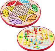 Juegos de Mesa Ajedrez Juegos padre-hijo Juguete Educativo Juguetes Circular Madera Piezas Niños Unisex Regalo