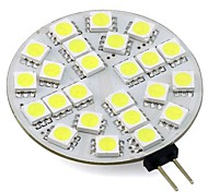 cheap -3W 260 lm G4 LED Bi-pin Lights T 24 leds SMD 5050 Warm White Cold White AC/DC 12 DC 12V