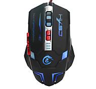 USB оптическая мышь привело игровой мыши 7 кнопок с подсветкой проводной компьютерной мыши регулируемый 3200dpi ПК мыши игрока для