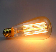 baratos -1pç 60W E26/E27 ST64 2300 K Incandescente Vintage Edison Light Bulb AC 220V AC 220-240V V