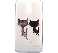 cheap -Case For LG Transparent Pattern Back Cover Cat Soft TPU for LG X Screen LG X Power LG G6