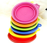 cheap -L Cat Dog Bowls & Water Bottles Pet Bowls & Feeding Foldable Yellow Red Green Blue Pink