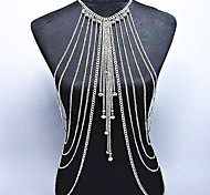 cheap -Crystal Body Chain - Women's Gold / Silver Bohemian / Natural / Fashion Body Jewelry For Special Occasion / Gift / Casual