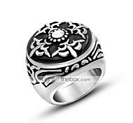 Недорогие -Муж. Кольцо Круг Титановая сталь Бижутерия Назначение Повседневные