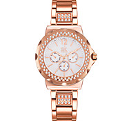 SK New Fashion Women's Watches Rhinestones Stainless Steel Safe Buckle Watchband Wrist Watch Multiple Colour Female Clock