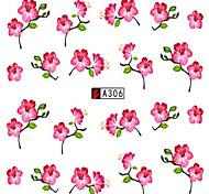10pcs/set Beautiful Nail Art Sticker Fashion Sweet Flower Design Nail Water Transfer Decals A306