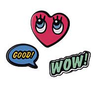 Conjunto de Jóias Jóias Original Com Logotipo Multi-maneiras Wear Estilo bonito Bricolage Adorável Acrílico Forma Geométrica Vermelho