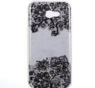Кейс для Назначение SSamsung Galaxy A5(2017) A3(2017) IMD С узором Задняя крышка Кружева Печать Сияние и блеск Цветы Твердый PC для A3
