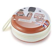 Fidget Hand Spinner Finger bag British Wind Metal Earphone Universal Case