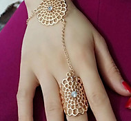 cheap -Women's Alloy Band Ring - Flower Floral Gold Silver Ring For Party Daily Casual
