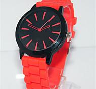 Жен. Модные часы Кварцевый силиконовый Группа Повседневная Красный Зеленый Розовый
