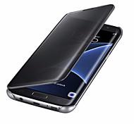 Недорогие -Кейс для Назначение SSamsung Galaxy A5(2017) A3(2017) С функцией автовывода из режима сна Покрытие Зеркальная поверхность Флип Чехол