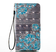 Samsung Galaxy A5(2017) A3(2017) 3D Effect Flower Pattern PU Material Wallet Section Phone Case for A510 A310