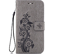 cheap -Case For Huawei P9 Lite Huawei Honor 5C Huawei G8 Huawei Huawei P8 Lite Card Holder Wallet with Stand Flip Pattern Embossed Full Body
