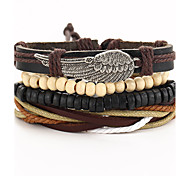 Men's Women's Wrap Bracelet Vintage Gothic Leather Wings / Feather Jewelry For Special Occasion Gift