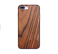 Недорогие -Для Чехлы панели Защита от удара IMD Ультратонкий Задняя крышка Кейс для Имитация дерева Твердый Дерево для AppleiPhone 7 Plus iPhone 7