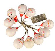Недорогие -4m 20 leds warm white rgb string lights украшение декоративный свет