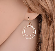 cheap -Women's Drop Earrings - Basic, Simple Style, Double-layer Gold / Silver For Party / Daily / Casual