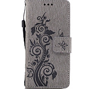 cheap -Case For Sony Xperia Z5 Sony Xperia Z3 Sony Sony Xperia XA Sony Xperia X Card Holder Wallet with Stand Flip Pattern Embossed Full Body