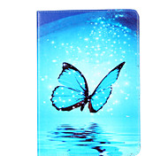 cheap -Case For Apple iPad Air 2 iPad Air Card Holder Wallet with Stand Flip Magnetic Pattern Full Body Cases Butterfly Hard PU Leather for iPad