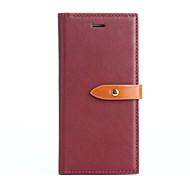 Недорогие -Для кошелька держателя карты с подставкой флип-чехол полный футляр для тела сплошной цвет жесткий pu кожа для iphone 7 плюс 7 6s плюс 6 se