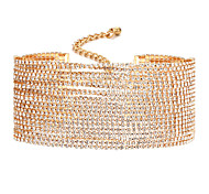 Women's Choker Necklaces Diamond Alloy Unique Design Bikini Jewelry For Wedding Party Daily Casual 1pc