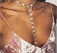 preiswerte -Damen Quaste / Lang Layered Ketten - Strass Personalisiert, Einzigartiges Design, Quaste Gold, Silber Modische Halsketten Für Party, Besondere Anlässe, Alltag