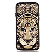 For Apple iPhone 7 7 Plus iPhone 6s 6 Plus Case Cover The Tiger Pattern 3D Relief Plastic Back Shell TPU Frame Cases