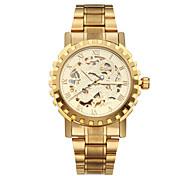 WINNER® Men's Watch Auto-Mechanical Skeleton Hollow Engraving Golden Watch Cool Watch Unique Watch Fashion Watch