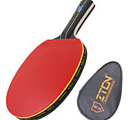 Ping Pang/Table Tennis Rackets Ping Pang Wood Long Handle Pimples 1 Racket 1 Table Tennis BagZTON