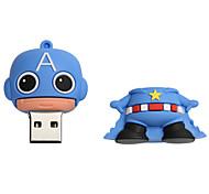 cheap -New Cartoon Creative American captain USB 2.0 8GB Flash Drive U Disk Memory Stick