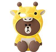 3D Cartoon Animal giraffe Silicone Case for iPhone 7 7 Plus 6s 6 Plus