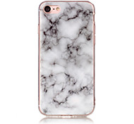 cheap -Case For Apple iPhone X iPhone 8 IMD Back Cover Marble Soft TPU for iPhone X iPhone 8 Plus iPhone 8 iPhone 7 Plus iPhone 7 iPhone 6s Plus