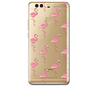 cheap -For Case Cover Ultra Thin Pattern Back Cover Case Flamingo Soft TPU for Huawei P10 Plus P10 P9  P9 Lite