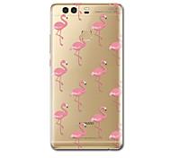 cheap -Case For Huawei P9 Huawei P9 Lite Huawei P8 Huawei Huawei P9 Plus Huawei P7 Huawei P8 Lite Ultra-thin Pattern Back Cover Flamingo Soft TPU