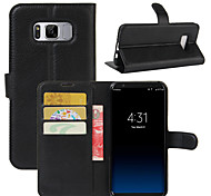 cheap -Case For Samsung Galaxy A5(2017) A3(2017) Card Holder Wallet Shockproof with Stand Full Body Cases Solid Color Hard PU Leather for