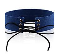 Women's Choker Necklaces Chrome Unique Design Euramerican Fashion Personalized Light Blue Dark Blue Jewelry ForWedding Party