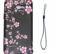 For Samsung Galaxy A7 A3 (2017) Case Cover Plum Blossom Pattern Fuel Injection Relief Plating Button Thicker TPU Material Phone Case A3 A5 (2016)
